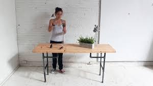 cool metal table diy plumbers pipe standing desk