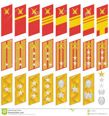 Military Insignia Chart Insignia Of The Army Of Korea Stock Vector Illustration Of