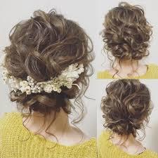 披露宴 髪型 編み込みのベストアイデア 25 選pinterest のおすすめ