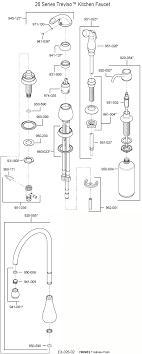 parts diagram for treviso single handle kitchen faucet 26 model series