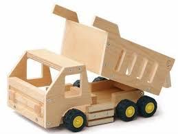k067 red toolbox k067 dump truck wood model kit