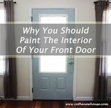 inside front door colors. Painting Doors And Trim Different Colors When Interior Inside Front Door