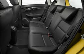 black rear seats of the 2018 honda fit