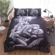 motorcycle bed sheets skull bedding ebay