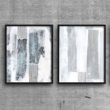 minimalist print set scandinavian design printable art abstract art blue grey wall art set of 2 prints instant download neutral decor by  on abstract wall art set of 2 with grey white wall art abstract painting prints set of 2 prints