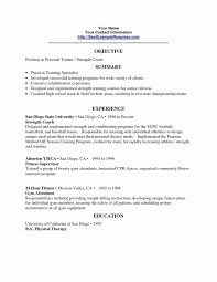 Personal Trainer Resume Lovely Personal Trainer Resume Aurelianmg