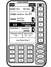 John Deere 1700 Planter Rate Chart Oma85407 Rate Charts And Settings Imperial U S Units