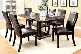 amazon furniture of america alfaro modern faux marble top dining table tables