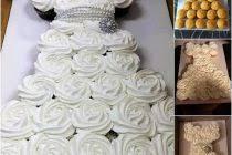 Wedding Dress Cupcake Cake Marvelous Wonderful Bridal Shower