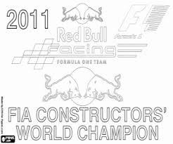 Kleurplaat Red Bull Racing Kampioen F1 2011 Kleurplaten