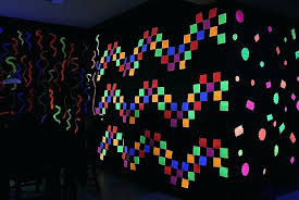 black light bedroom decor awesome post it notes glow party wallpaper pictures blacklight wall paint