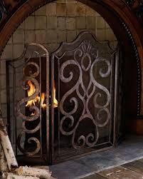 iron fireplace screen. Iron Fireplace Screen E