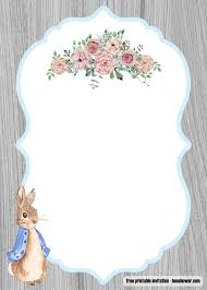 Do It Yourself Baby Shower Invitation Templates Free Peter Rabbit Baby Shower Invitations Templates Free