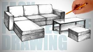couch drawing easy. couch drawing easy