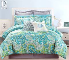 amazoncom  piece modern bedding turquoise blue grey and green