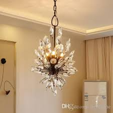 new design k9 crystal chandeliers light european american elegant creative country led ceiling pendant chandelier living room hotel bedroom