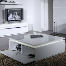 skylight high gloss coffee table in white with led lighting argos square storage