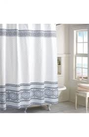 nordstrom shower curtains shower curtains black and white extra long linen shower curtain