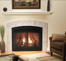 studio luxury direct vent fireplace shown with optional with braided decorative front and marquis arch door