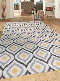modern moroccan design non slip non skid area rug 5 x 7