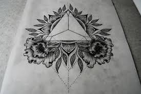 Triangle And Mandala Tattoo Design On Behance