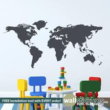 Wall Decal For Bedroom Large World Map Wall Decals Top Map Wall Decal Vinyl  World Kids . Wall Decal For Bedroom ...