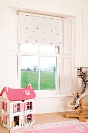blackout blinds for baby room. Flutterbyes Raspberry Blackout Roller Blind Has Pink And Beige Butterflies On A White Backgroud. This Fun Girlie Makes It Perfect Blinds For Baby Room