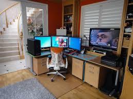 image of corner gaming desk plan