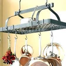 wood pot rack ceiling wooden pot rack wood ladder pan holder mounted inch single bar 4 wood pot rack