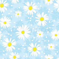 Seamless Cute Camomile Background Stock Vector