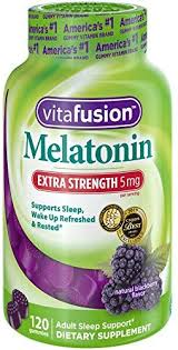 Vitafusion Extra Strength Melatonin Gummy Vitamins 5mg 120 Ct Gummies
