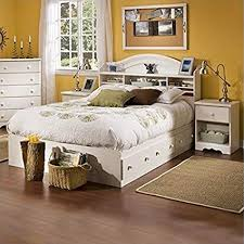 Amazon.com: South Shore Summer Breeze Kids Full Wood Bookcase Bed 3 ...