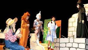 a stage backdrop makes the school play a success