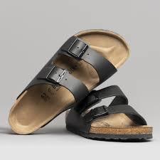 birkenstock arizona 51191 reg uni leather two strap sandals black