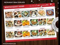 Make A Menu For A Restaurant How To Create Food Menu Restaurant Menu With Images