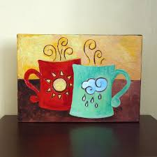original painting coffee mates sunshine rain 7x5 by njoyart 35 00 to cute