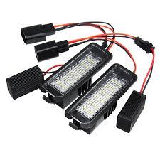 Lupo Lights Australia Led License Number Plate Lights Lamp 12v 3w 6000k Pair For Vw Golf 4 5 6 7 6r Passat B6