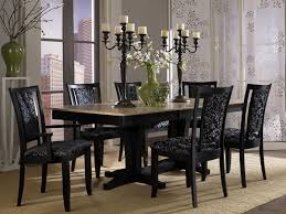 black dining room table sets