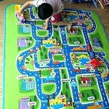 train track play mat play rug details about waterproof mats baby kids rug city carpet car