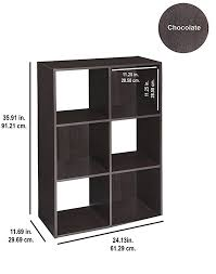 closetmaid 4186 cubeicals organizer 6 cube chocolate