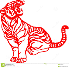 chinese tiger clipart. Perfect Chinese Chinese Traditional Tiger Paper Cut For Chinese New Year In Tiger Clipart 9