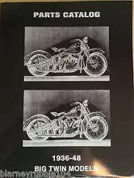 harley parts manual catalog book 1936 to 1948 knucklehead ul