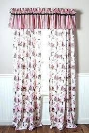 Paris Bedroom Curtains For Designer Pink Tower Theme Nursery Kids Curtain  Panel