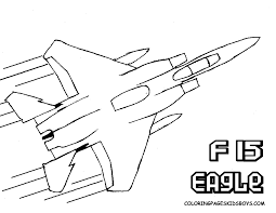 Small Picture Airplane Coloring Pages