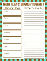 Meal Budget Planner Meal Plan Free Printable Bring Your Grocery Budget Down