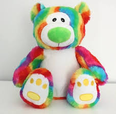 Large Rainbow Bear Embroidered Rainbow Bear Bridal Bling