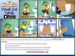 Potty Show Visual Cue Cards Boy Use The Attached Free