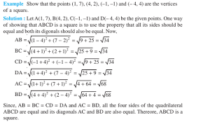 Coordinate Geometry For Class 10 Notes Formulas Solved