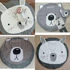 Cartoon Animals Bear Rabbit Face Baby Cotton Play Mats Children ...