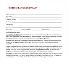 Catering Agreement 18 Catering Contract Templates Word Excel Formats
